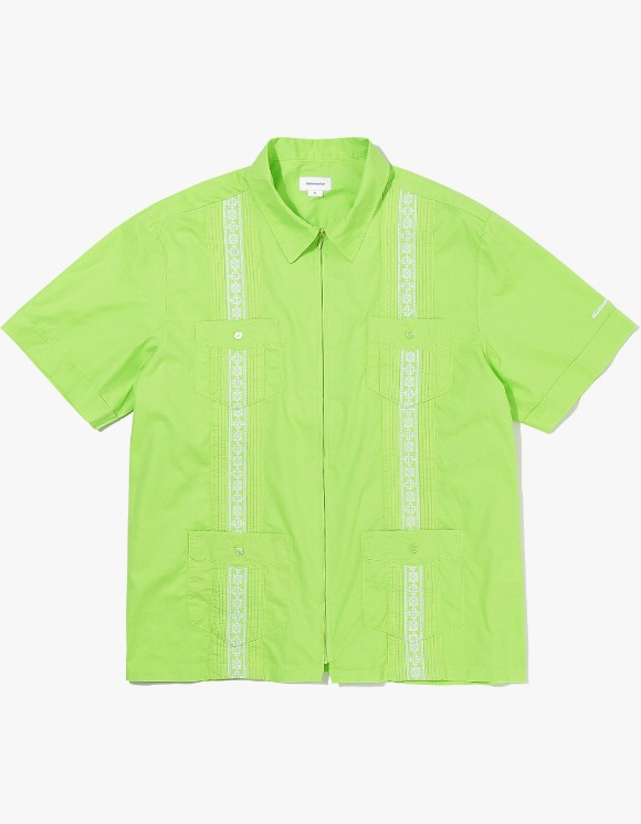 thisisneverthat TINT Pin Tuck Zip Up Shirt - Lime Green | HEIGHTS. | 하이츠 온라인 스토어