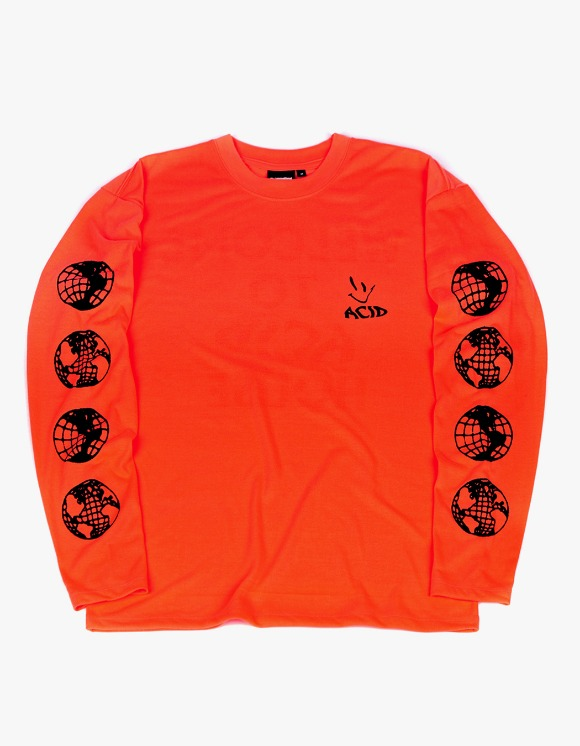 The Internatiiional ACID L/S Tee - Fluo Orange | HEIGHTS. | 하이츠 온라인 스토어