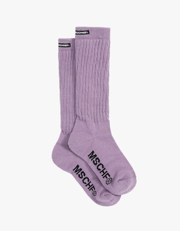 MISCHIEF Middle Tube Socks - Lavender | HEIGHTS. | 하이츠 온라인 스토어
