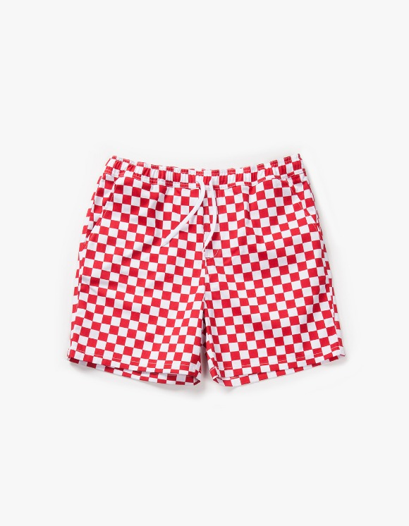 have a good time Checker Border Easy Shorts - Red | HEIGHTS. | 하이츠 온라인 스토어