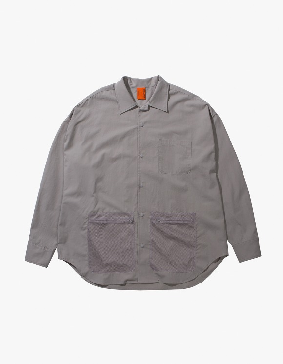 IDEAEND Net Shirt - Sage | HEIGHTS. | 하이츠 온라인 스토어
