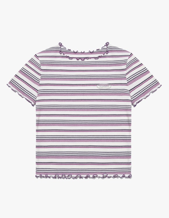 KIRSH Merrow Edge Stripe Tee IH - Purple | HEIGHTS. | 하이츠 온라인 스토어