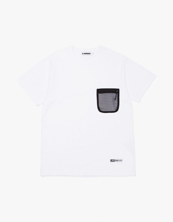 LORES Mesh Pocket S/S T-Shirts - White | HEIGHTS. | 하이츠 온라인 스토어