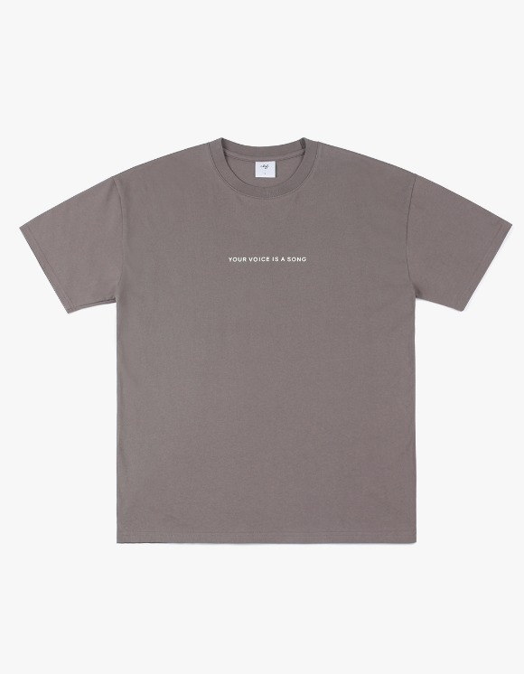 CLIF Record S/S Tee - Gray Brown | HEIGHTS. | 하이츠 온라인 스토어