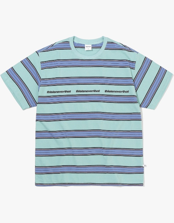 thisisneverthat 3ESP Logo Striped Tee - Ice Blue | HEIGHTS. | 하이츠 온라인 스토어