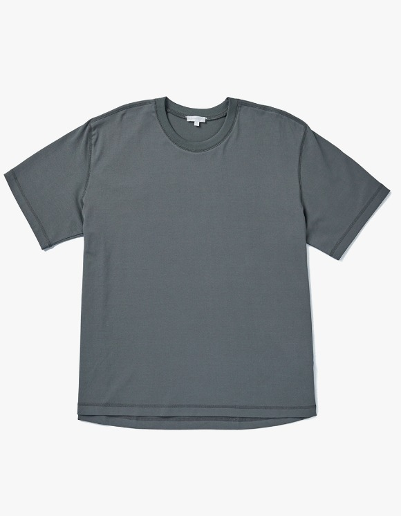 AECA WHITE Louise Half Sleeve Tee - Charcoal | HEIGHTS. | 하이츠 온라인 스토어