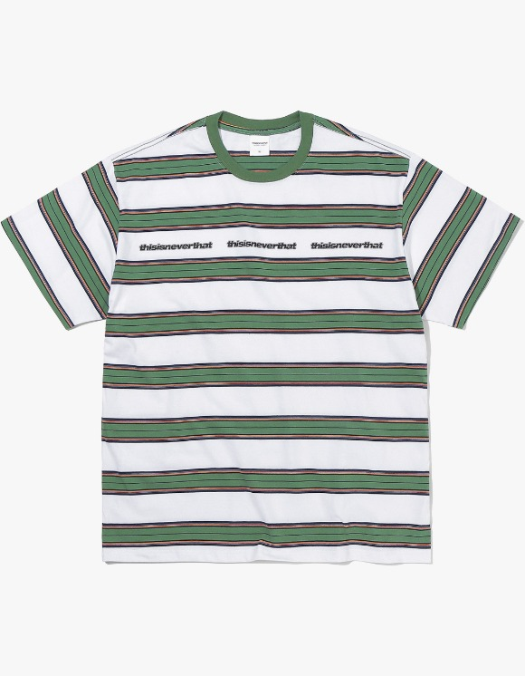 thisisneverthat 3ESP Logo Striped Tee - White | HEIGHTS. | 하이츠 온라인 스토어