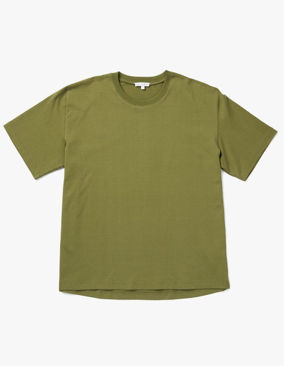 AECA WHITE Louise Half Sleeve Tee - Olive | HEIGHTS. | 하이츠 온라인 스토어