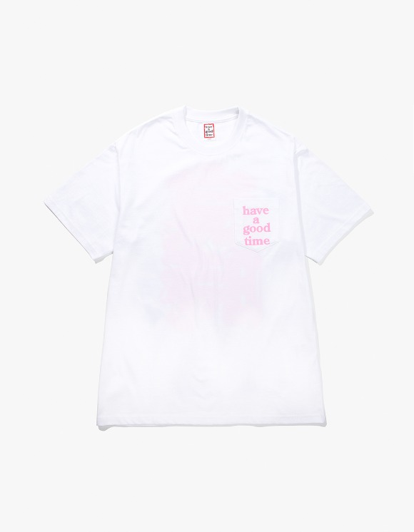 have a good time Back Edo Pocket Tee - White | HEIGHTS. | 하이츠 온라인 스토어