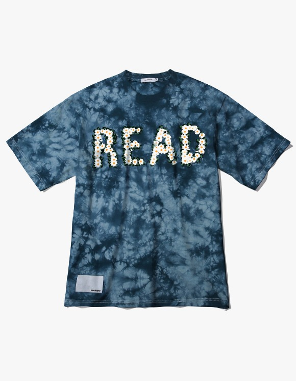 Ray Shiso Jurupa READ S/S Tee - Blue | HEIGHTS. | 하이츠 온라인 스토어