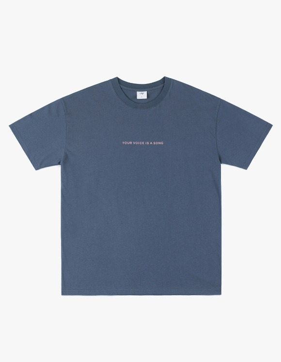 CLIF Record S/S Tee - Gray Navy | HEIGHTS. | 하이츠 온라인 스토어