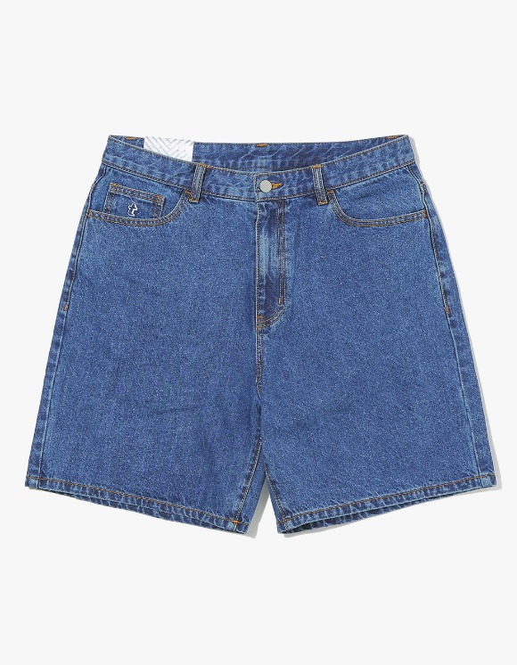 thisisneverthat Denim Skate Short - Mid Blue | HEIGHTS. | 하이츠 온라인 스토어