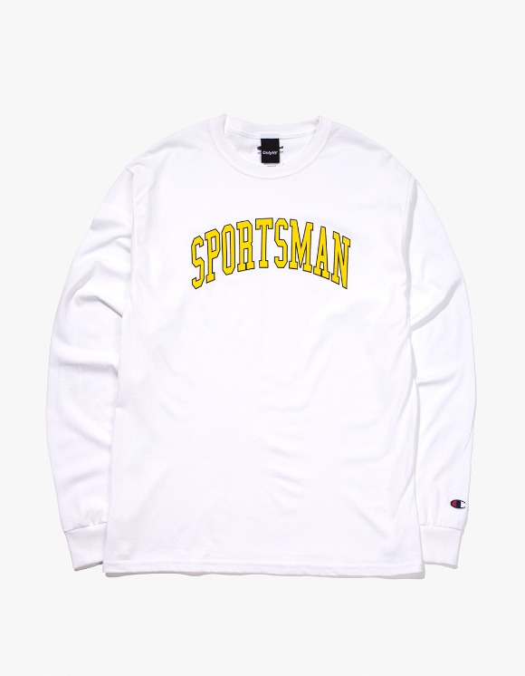 Only NY Sportsman Champion® L/S T-Shirt - White | HEIGHTS. | 하이츠 온라인 스토어