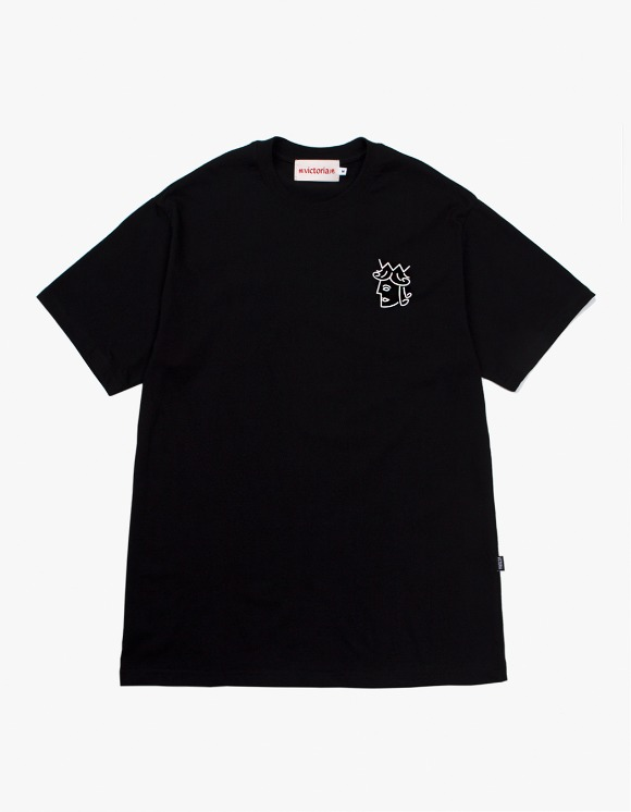 Victoria Hong Kong Queenhead S/S Classic Tee - Black | HEIGHTS. | 하이츠 온라인 스토어