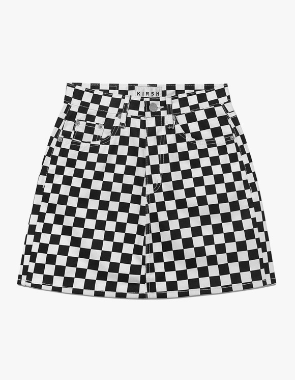 KIRSH Checkered Skirt  IH - White | HEIGHTS. | 하이츠 온라인 스토어