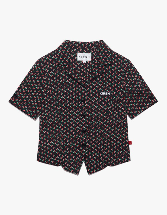KIRSH Cherry Open Collar Shirts IH - Black | HEIGHTS. | 하이츠 온라인 스토어