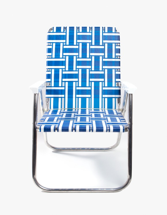 Lawn Chair Deluxe Blue and White with White Arms | HEIGHTS. | 하이츠 온라인 스토어