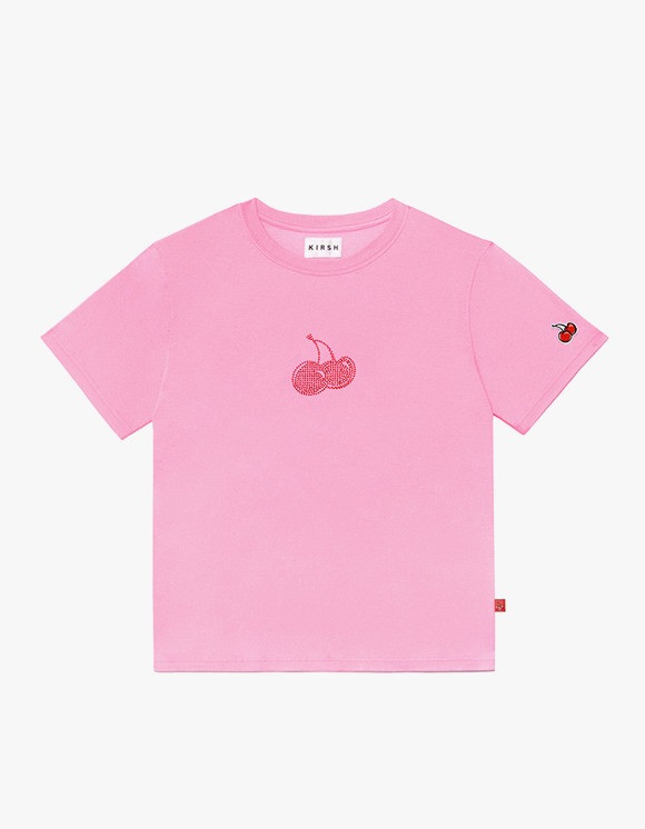 KIRSH Hotfix Cherry Tee IH - Pink | HEIGHTS. | 하이츠 온라인 스토어
