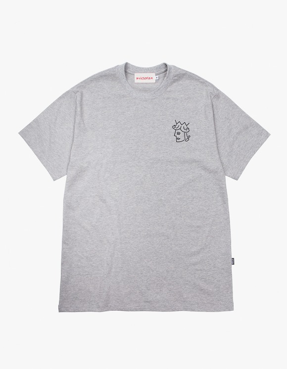 Victoria Hong Kong Queenhead S/S Classic Tee - Grey | HEIGHTS. | 하이츠 온라인 스토어