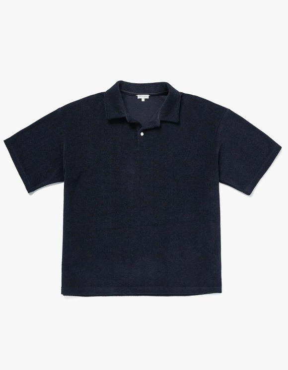 AECA WHITE Jack Beach Collar Tee - Navy | HEIGHTS. | 하이츠 온라인 스토어