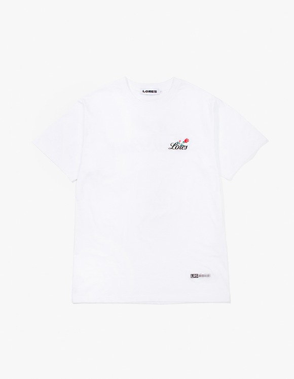 Lores Rose S/S T-Shirt - White | HEIGHTS. | 하이츠 온라인 스토어