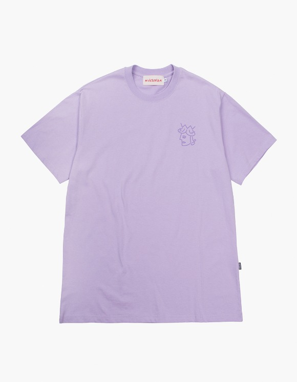 Victoria Hong Kong Queenhead S/S Classic Tee - Lavender | HEIGHTS. | 하이츠 온라인 스토어