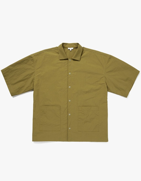AECA WHITE Ryui Oversize Shirts - Olive | HEIGHTS. | 하이츠 온라인 스토어