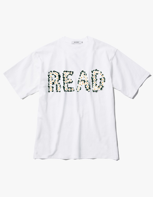 Ray Shiso Jurupa READ S/S Tee - White | HEIGHTS. | 하이츠 온라인 스토어