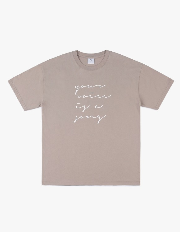 CLIF Love Letter S/S Tee - Beige | HEIGHTS. | 하이츠 온라인 스토어