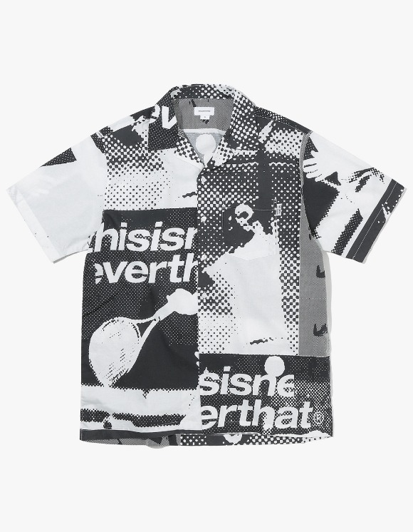 thisisneverthat Court Hawaiian Shirt  - Black/White | HEIGHTS. | 하이츠 온라인 스토어