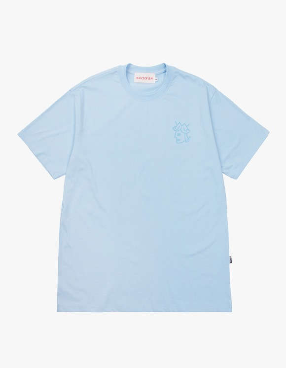 Victoria Hong Kong Queenhead S/S Classic Tee - Blue | HEIGHTS. | 하이츠 온라인 스토어