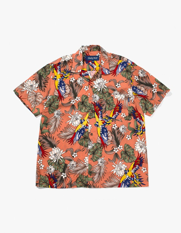 Only NY Parrot Aloha Shirt - Apricot | HEIGHTS. | 하이츠 온라인 스토어