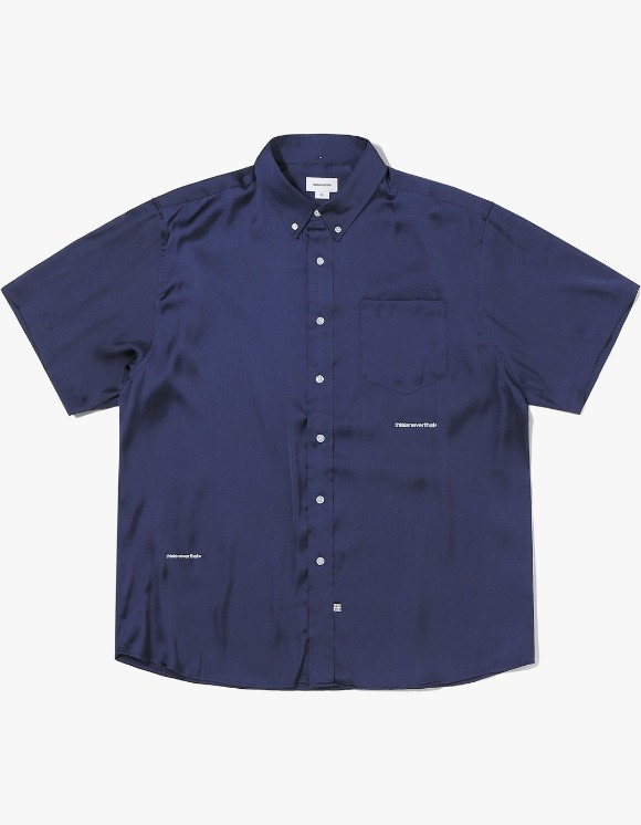 thisisneverthat TR Satin S/SL Shirt - Navy | HEIGHTS. | 하이츠 온라인 스토어