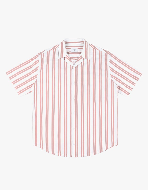 CLIF Summer Stripe Shirt - Pink | HEIGHTS. | 하이츠 온라인 스토어