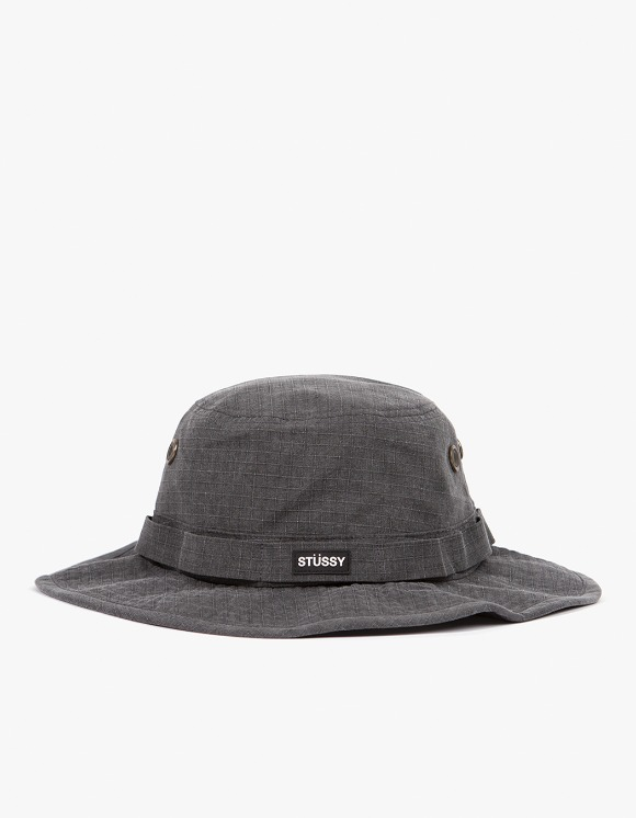 Stussy Washed Ripstop Boonie Hat - Black | HEIGHTS. | 하이츠 온라인 스토어
