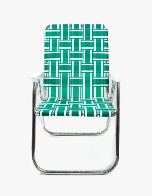 Lawn Chair Deluxe Green and White with White Arms | HEIGHTS. | 하이츠 온라인 스토어