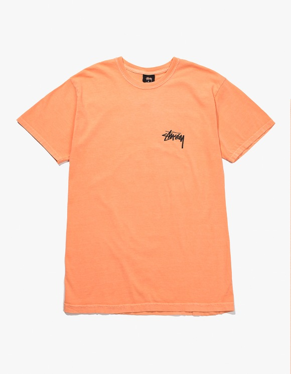 Stussy 8 Ball Pig.Dyed Tee - Coral | HEIGHTS. | 하이츠 온라인 스토어