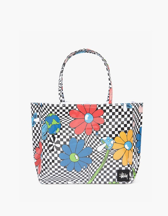 Stussy Checker Vinyl Wrapped Tote - White | HEIGHTS. | 하이츠 온라인 스토어