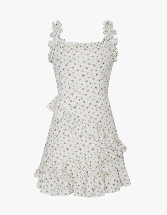 Margarin Fingers Floral Frill One Piece - Ivory | HEIGHTS. | 하이츠 온라인 스토어