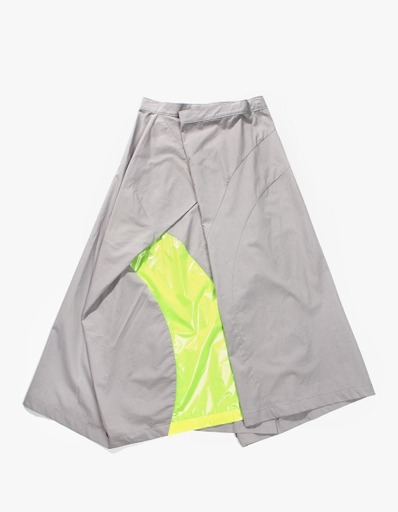 Gliese 581 Color Block Folding Skirt - Grey With Neon Yellow | HEIGHTS. | 하이츠 온라인 스토어