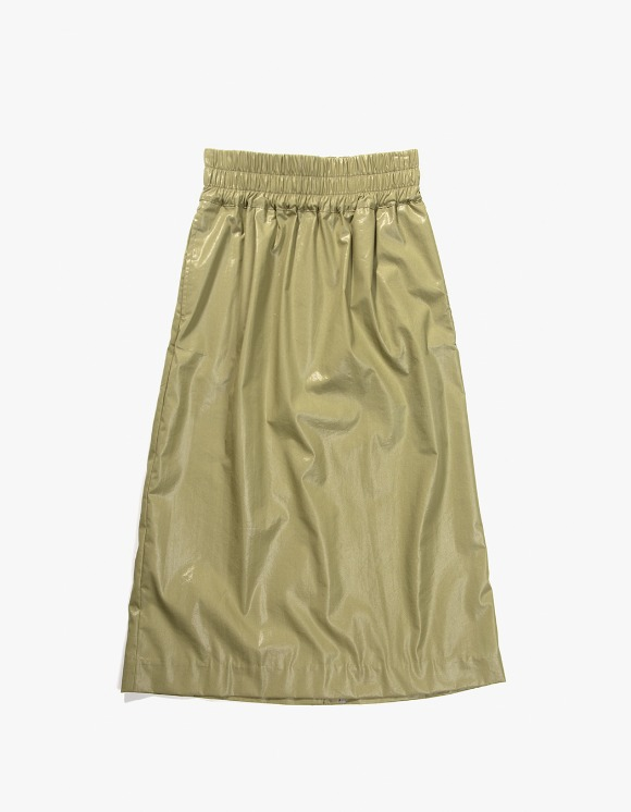Gliese 581 Side Piping Midi Skirt - Olive Green | HEIGHTS. | 하이츠 온라인 스토어