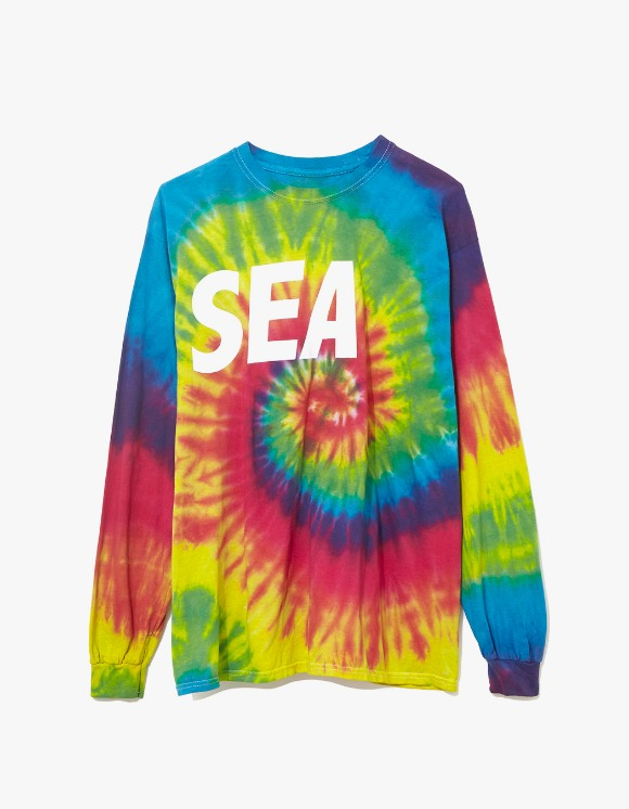 Wind & Sea Cut-Sewin Tie Dye L/S Tee - Rainbow | HEIGHTS. | 하이츠 온라인 스토어