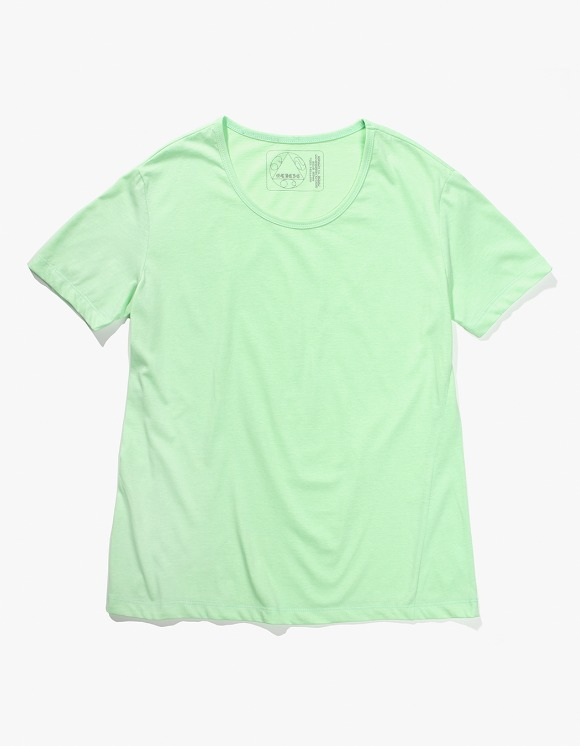 Gliese 581 Silket Cotton U Neck T-shirts - Acid Neon Green | HEIGHTS. | 하이츠 온라인 스토어