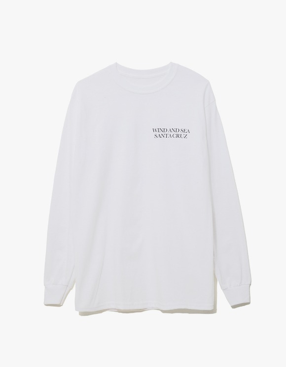 Wind & Sea Cut-Sewin Santa Cruz L/S Tee - White | HEIGHTS. | 하이츠 온라인 스토어