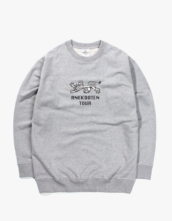 Beasts And Natives Alike ANEKDOTEN Crewneck - Grey | HEIGHTS. | 하이츠 온라인 스토어
