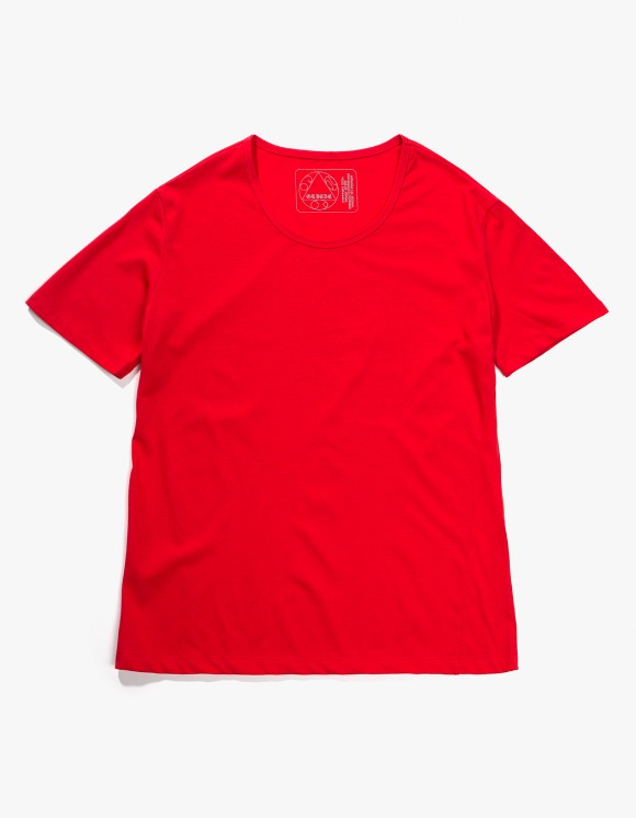Gliese 581 Silket Cotton U Neck T-shirts - Red | HEIGHTS. | 하이츠 온라인 스토어