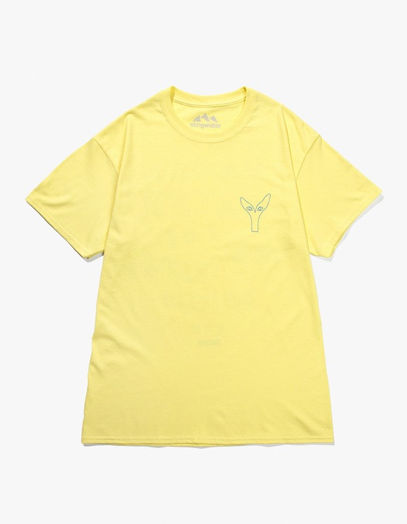 Stingwater V Speshal Water S/S Tee - Light Yellow | HEIGHTS. | 하이츠 온라인 스토어
