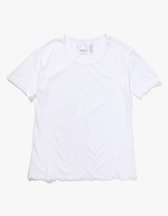 Gliese 581 Silket Cotton U Neck T-shirts - White | HEIGHTS. | 하이츠 온라인 스토어
