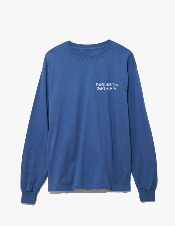 Wind & Sea Cut-Sewin Santa Cruz L/S Tee - Blue | HEIGHTS. | 하이츠 온라인 스토어