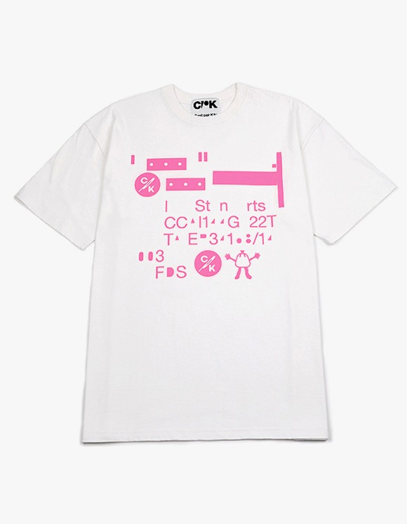 Cost Per Kilo Erased Code Tee - White | HEIGHTS. | 하이츠 온라인 스토어